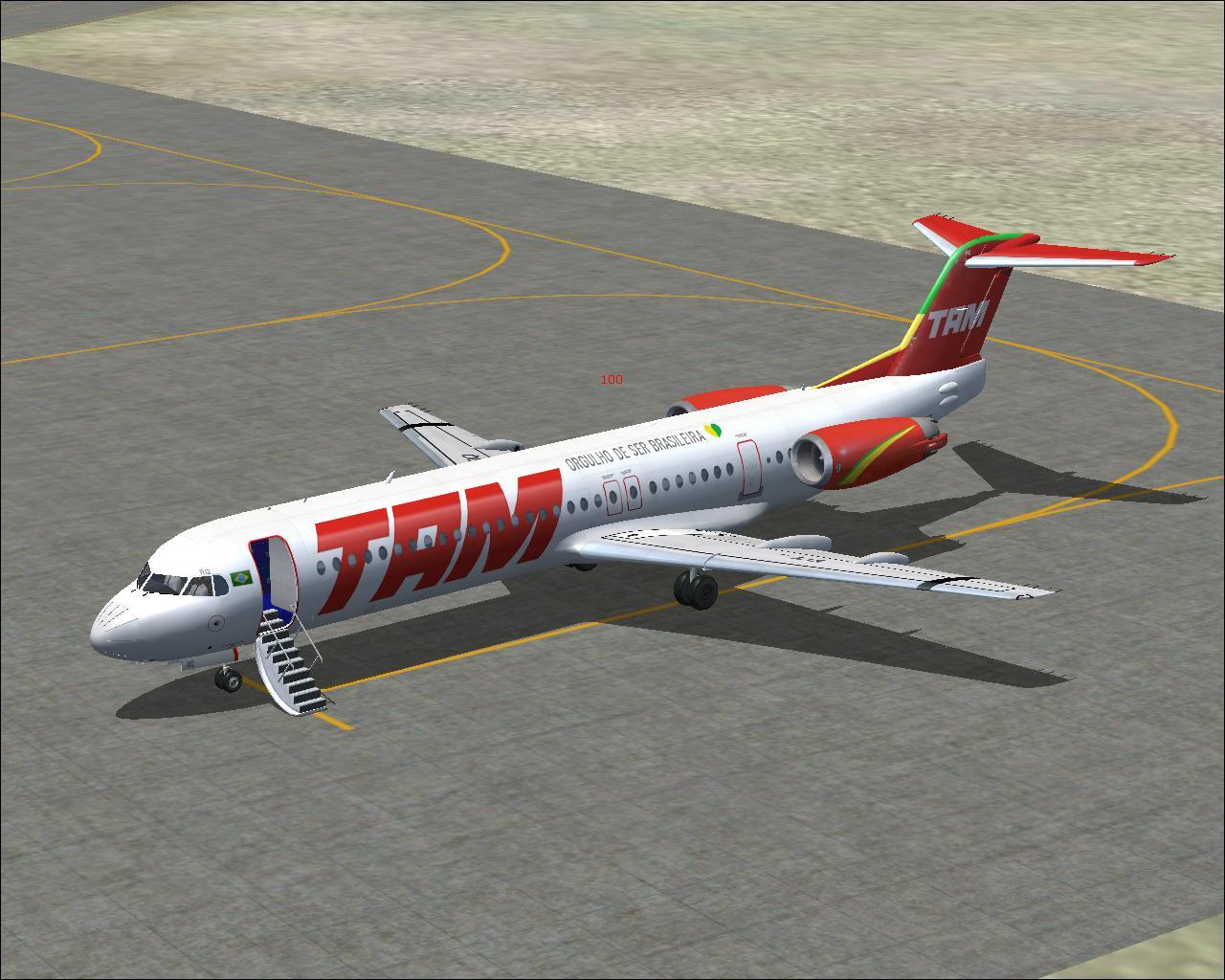 FSX – Fokker 100 Tam | Meg@Aviacao